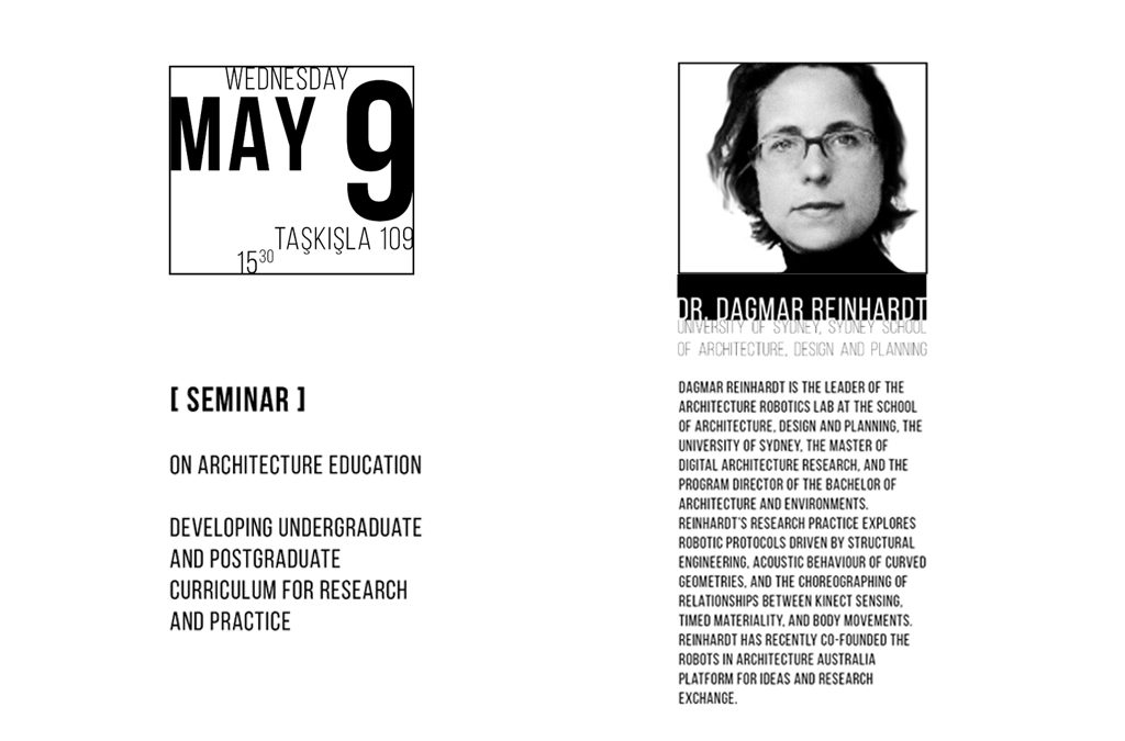 Seminer: Dr. Dagmar Reinhardt – On Architecture Education