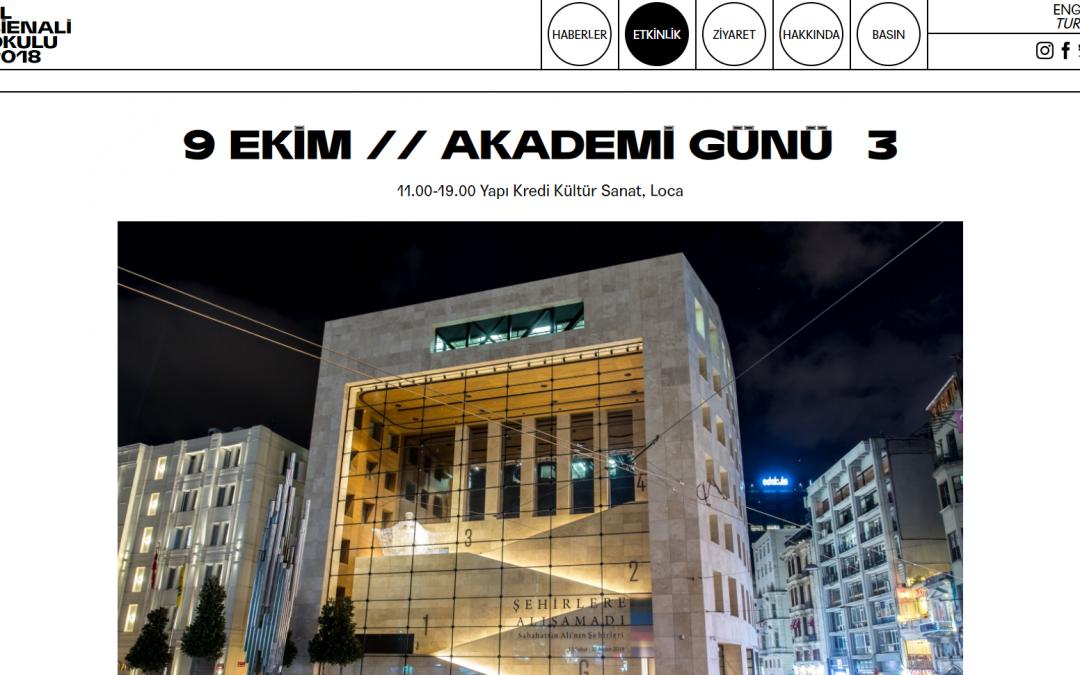 '4. İstanbul Tasarım Bienali' Okullar Okulu: Akademi Günü #3